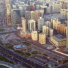 Outline View of Abu Dhabi City