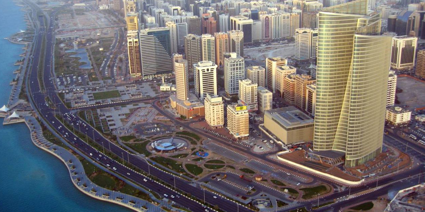 Outline View of Abu Dhabi City