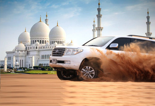 Abu Dhabi + Dubai City Tour + Desert Safari