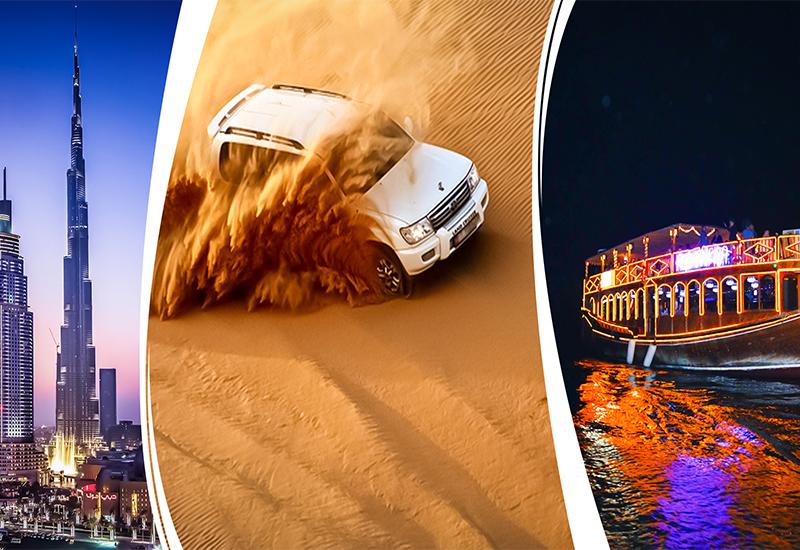 Dubai City Tour, Desert Safari Et Marina Dhow Cruise Dinner