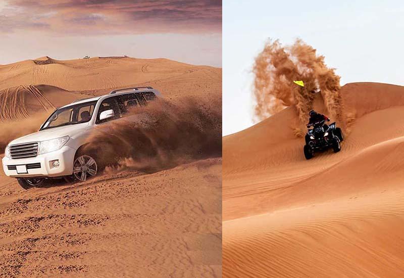 Safari dans le désert + Quad